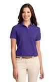 Women's Silk Touch Polo Shirt Purple Thumbnail