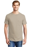 Beefy-t 100 Cotton T-shirt With Pocket Sand Thumbnail