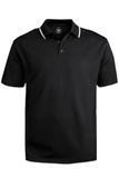 Men's Tipped Collar Dry-mesh Hi-performance Polo Black Thumbnail