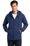 Port & Company Fan Favorite Fleece Full-Zip Hooded Sweatshirt Team Navy Thumbnail