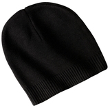 100 Cotton Beanie Black Thumbnail