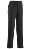 Misses Polyester Solid Pant Black Thumbnail