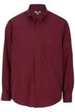 Men's Easy Care Poplin Shirt LS Burgundy Thumbnail