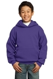 Youth Pullover Hooded Sweatshirt Purple Thumbnail