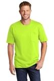 Workwear Pocket Tee Safety Green Thumbnail