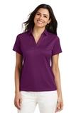 Women's Performance Fine Jacquard Polo Shirt Violet Purple Thumbnail