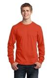 Long Sleeve 5.4-oz. 100 Cotton T-shirt Orange Thumbnail