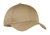 6-panel Twill Cap Khaki Thumbnail
