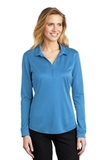 Women's Silk Touch Performance Long Sleeve Polo Carolina Blue Thumbnail