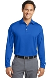 Nike Golf Shirt Long Sleeve Dri-FIT Stretch Tech Polo Blue Sapphire Thumbnail