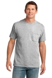 5.4-oz 100 Cotton Pocket T-shirt Ash Thumbnail