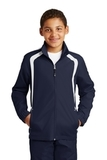 Youth Colorblock Raglan Jacket True Navy with White Thumbnail