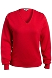 Women's Edwards V-neck Cotton Sweater Red Thumbnail