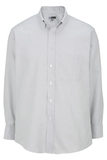 Men's Dress Button Down Oxford LS Light Grey Thumbnail
