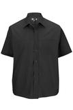 Men's Value Broadcloth Shirt SS Black Thumbnail