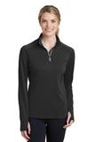 Women's Textured 1/4-Zip Pullover Black Thumbnail