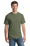 Heavy Cotton 100 Cotton T-shirt Heather Military Green Thumbnail