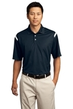 Nike Golf Dri-FIT Shoulder Stripe Polo Shirt Midnight Navy with White Thumbnail