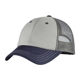 District Tri-tone Mesh Back Cap Chrome with New Navy and Charcoal Thumbnail