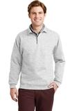 Super Sweats 1/4-zip Sweatshirt With Cadet Collar Ash Thumbnail