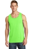 5.4 oz. 100% Cotton Tank Top Neon Green Thumbnail