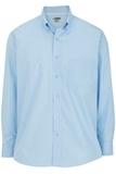 Men's Easy Care Poplin Shirt LS Blue Thumbnail