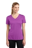 Women's V-neck Competitor Tee Pink Orchid Thumbnail
