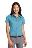 Women's Short Sleeve Easy Care Shirt Maui Blue Thumbnail