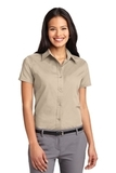 Women's Short Sleeve Easy Care Shirt Stone Thumbnail