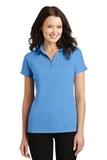 Women's Crossover Raglan Polo Azure Blue Thumbnail