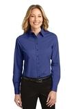 Women's Long Sleeve Easy Care Shirt Mediterranean Blue Thumbnail