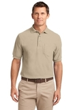 Silk Touch Polo Shirt With Pocket Stone Thumbnail