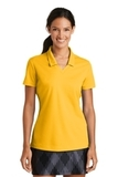 Women's Nike Golf Shirt Dri-FIT Micro Pique Polo Shirt University Gold Thumbnail