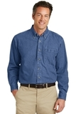 Heavyweight Denim Shirt Dark Blue Stonewashed Thumbnail