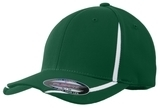 Flexfit Performance Colorblock Cap Forest Green with White Thumbnail