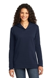 Women's French Terry Pullover Hooded Sweatshirt Navy Thumbnail