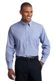 Tall Crosshatch Easy Care Shirt Chambray Blue Thumbnail