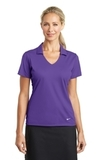 Women's Nike Golf Dri-FIT Vertical Mesh Polo Court Purple Thumbnail