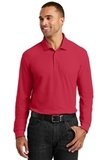 Long Sleeve Core Classic Pique Polo Rich Red Thumbnail