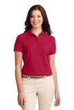 Women's Silk Touch Polo Shirt Red Thumbnail