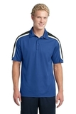 Micropique Shoulder Block Polo True Royal with Black and White Thumbnail
