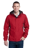 Eddie Bauer Rain Jacket Radish with Grey Steel Thumbnail