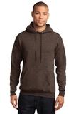7.8-oz Pullover Hooded Sweatshirt Heather Dark Chocolate Brown Thumbnail