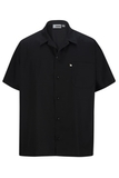Button Front Utility Shirt Black Thumbnail