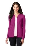 Women's Concept Stretch Button-Front Cardigan Magenta Thumbnail