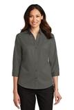 Women's 3/4Sleeve SuperPro Twill Shirt Sterling Grey Thumbnail