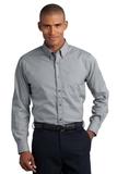 Button-down Mini-check No-iron Shirt Black Thumbnail