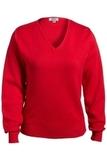 Women's Edwards V-neck Cotton Sweater Red Thumbnail