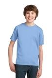 Youth Essential T-shirt Light Blue Thumbnail