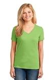 Women's 5.4-oz 100 Cotton V-neck T-shirt Lime Thumbnail